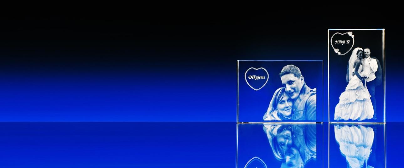 2D laser fotografie ve skle